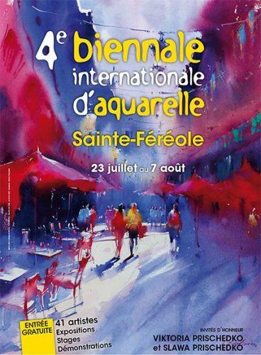 4ème BIENNALE INTERNATIONALE D'AQUARELLE de SAINTE FÉRÉOLE (19)