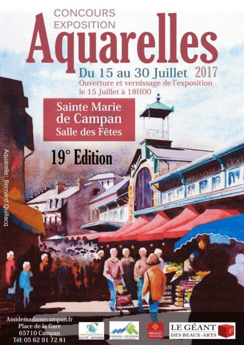 CONCOURS D'AQUARELLE de SAINTE-MARIE DE CAMPAN  (65)