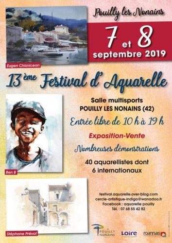 12ème et 13ème FESTIVAL D'AQUARELLE DE POUILLY LES NONAINS