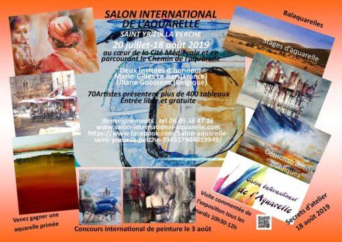 13ème et 15ème SALON INTERNATIONAL DE L'AQUARELLE de SAINT-YRIEIX LA PERCHE